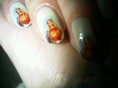 virgin mary nails