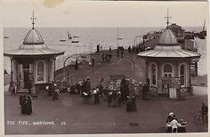 Old pier entrance, Worthing pier, West Sussex
