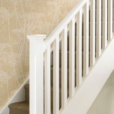 Wood Spindles For Stairs Phenomenal Balusters Folsom Stair Woodworks Home Interior wood spindles for stair railing, wood spindles for staircase, wood spindles for stairs. Added on April 2018 at gondolasurvey White Banister, Painted Banister, White Staircase, House Staircase, Staircase Design, Staircase Remodel, Railing Design, Staircase Spindles, Rustic Staircase