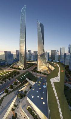 Futuristic Architecture, Southern Island of Creativity in Chengdu by Urban Design Research Center