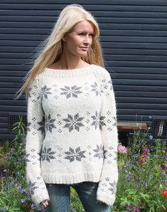 isblomst sweater i eco alpaca strikkekit