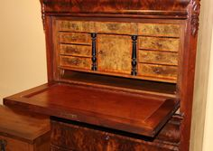 19th c. Secretaire a Abattant or Secretary Desk from nhantiquecoop on Ruby Lane