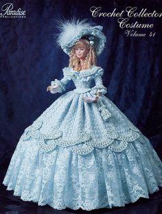 1852 Tea Party Gown For Barbie Paradise Vol. 41 Crochet Pattern (No Doll)
