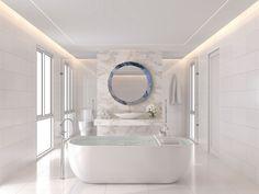 Circle Neptune - Oglinzi din colecția Skyfall by Fabio Casali 😍 Interior Design, Small Bathroom, Renovation Budget, Bathroom Design, Small Bathroom Renovations, Mirror Interior Design, Shower Repair, Bagno Design, Renovations