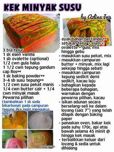Kek minyak susu Pastry Recipes, Tart Recipes, Sweet Recipes, Cookie Recipes, Snack Recipes, Malaysian Dessert, Cake Receipe, Resep Cake, Asian Cake