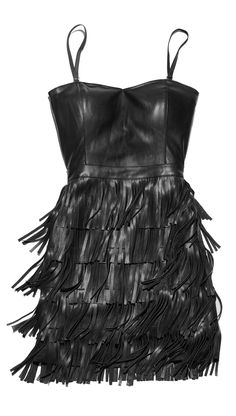 It don't mean a thing if you ain't got that swing! For your next night out, pair this hot, faux leather fringe dress with strappy heels and chunky gold jewelry. Finish with a studded clutch and it's a look to remember!