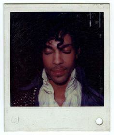 Looks like a Polaroid taken on the set of Purple Rain! Prince was playful on the set, there are other funny photos from behind the scenes out there!