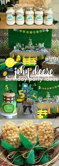 19 John Deere Tractor Party Ideas via /spaceshipslb/