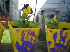mothers day flower pot- Watch me grow written on the other side