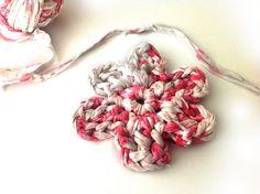 Flor de Crochet XL con Trapillo ~ Tutorial en Español