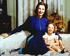 Secret: Loretta Young is pictured with Judy Lewis in 1944, who did not know for years who her father was