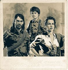 The Marston Family-god Abigail is so bad ass Video Game Art, Video Games, Red Dead Redemption Game, Wild West Games, John Marston, Read Dead, Sally Face Game, Rdr 2, Schaefer