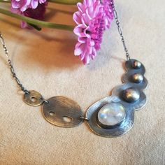 Rainbow Moonstone Necklace Bib Necklace by SpearAndSparrow on Etsy