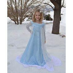 Vestido Elsa Frozen Disney Princesas Cosplay Disfraz Nenas - $ 790,00 en MercadoLibre