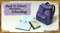 Hi guys! In this video we're making a miniature Schoolbag/Backpack, to get ready for Back To School ;) I choose a vintage floral look for my bag, but you can...