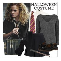 """""""60 Second Style: Hermione"""" by cadetartemis ❤ liked on Polyvore featuring Joseph, VILA, H&M, Dr. Martens, Halloween and 60secondstyle"""
