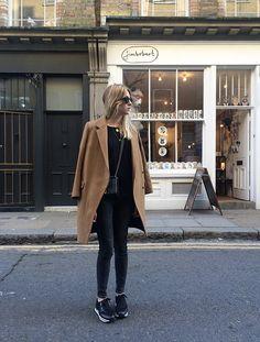 Coat: House of Dagmar || Jeans: Monki || Knit: All Saints || Trainers: Hogan || Bag: Chanel...