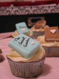 How to Plan a Book Launch Party by A.L. Michael, including an idea to make bookmarks as party favors (and serve cute cupcakes - recipe not included!)