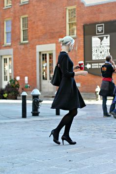 Kate Spade Black Sweater Dress - A comfortable and elegant Kate Spade Black Sweater Dress with a pleated skirt that can be easily worn to the office or as for a dinner date. Peas and Peonies