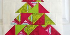 Christmas in July ~ Christmas Tree Table Runner Christmas Tree On Table, Christmas Blocks, Christmas Quilt Patterns, Christmas In July, Holiday Fun, Table Runner Tutorial, Table Runner Pattern, Christmas Sewing Projects, Christmas Crafts
