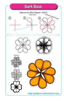 zentangle patterns step by step dark * dark zentangle patterns + dark zentangle patterns black + zentangle patterns step by step dark Doodle Zen, Tangle Doodle, Tangle Art, Zentangle Drawings, Doodles Zentangles, Doodle Drawings, Doodle Patterns, Zentangle Patterns, Doodle Borders