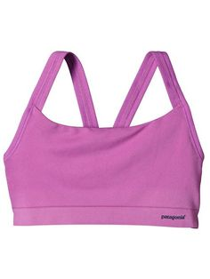 The Patagonia Women's Active Mesh Sports Bra is an all-purpose, low-compression seamless bra that hugs the body and supports a variety of sizes. Climbing Clothes, Sup Yoga, Mesh Bra, Eco Friendly Fashion, Athletic Wear, Sports Shirts, Slow Fashion