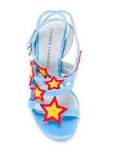 Shop Chiara Ferragni 'Stars' sandals in O' from the world's best independent…