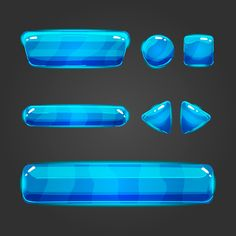 Set of game interface button on Behance