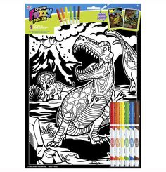 """Become an artist and color your own masterpiece! Assorted whimsical and fun designs are included in our 11""""x15"""" Fuzzy Poster Assortment. Perfect projects to display proudly on your wall when complete."""