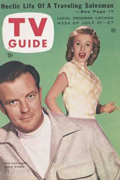 TV Guide: July 21, 1956 - Bill Lundigan and Mary Costa