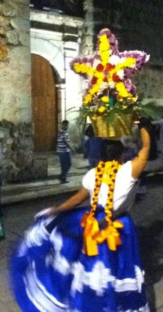 Guelaguetza festival dancer in Oaxaca