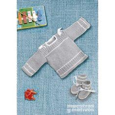 Conjunto tejido a tricot para bebé