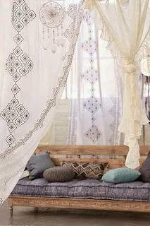 the cushion, the curtains.