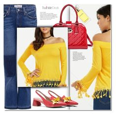 """""""Yellow top"""" by duma-duma ❤ liked on Polyvore featuring 10 Crosby Derek Lam and Estée Lauder"""