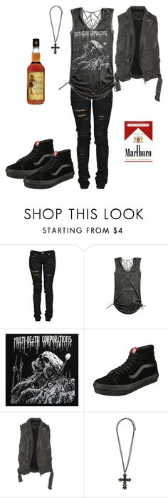 """""""eenhhhh"""" by savemefrommyhumanity ❤ liked on Polyvore featuring Denim of Virtue, Vans and AllSaints"""