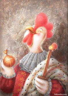 Посмотреть иллюстрацию Batundra - Червовый петушок. Петушки для игральных карт