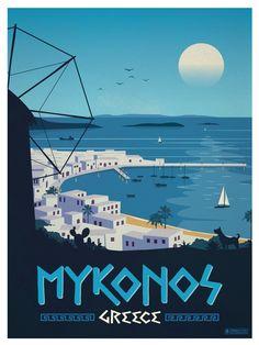 Image of Vintage Mykonos Poster