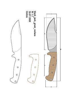 Cool Knives, Knives And Swords, Knife Drawing, Knife Template, Knife Patterns, Forging Metal, Knife Handles, Handmade Knives, Custom Knives