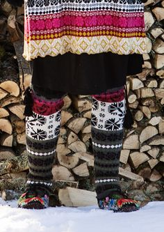 """""""Muhu"""" leg warmers in cotton & wool – Inspired by Muhu – GUDRUN SJÖDÉN – Webshop, mail order and boutiques 
