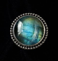 Labradorite Sterling Silver Ring handcrafted in Bali by Bluemoonstone Creations.