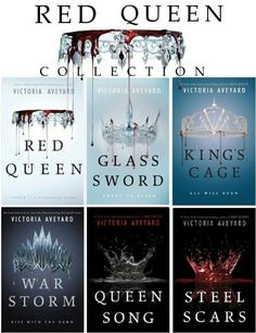 The Complete Red Queen Collection: War Storm - King's Cage - Glass Sword - Red Queen Book Suggestions, Book Recommendations, Book Club Books, Book Lists, I Love Books, Good Books, Jennifer L Armentrout, Red Queen Book Series, Fantasy Books To Read