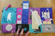 Research and art project out of a file folder...