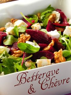 Beetroot salad with goat cheese and walnuts - Salade - Salad Dressing Recipes, Salad Recipes, Brunch Bar, Healthy Snacks, Healthy Recipes, Warm Food, Food Shows, How To Cook Quinoa, Beetroot