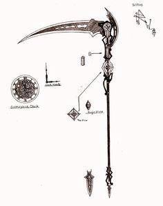 Weapon Concept Art: Kira's Scythe by RedW0lf777sg.deviantart.com on @deviantART: