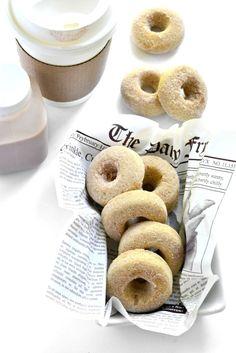 Gluten-free Vegan Sugar-Coated Donuts - absolutely amazing with maple glaze! Gluten Free Breakfasts, Gluten Free Desserts, Vegan Desserts, Vegan Gluten Free, Dairy Free, Vegan Recipes, Dessert Recipes, Meringue, Vegan Sugar