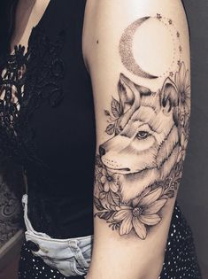 50 Of The Most Beautiful Wolf Tattoo Designs The Internet Has Ever Seen - KickAss Things Eagle Tattoos, Wolf Tattoos, Animal Tattoos, Beautiful Wolves, Most Beautiful, Wolf Tattoo Meaning, Fierce Tattoo, Tattoos For Women Flowers, Chest Piece Tattoos