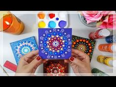 I tried Mandala Dot Painting! Canvas size: (Inches) Okay, so Im sure you guys have seen this before and they're just beautiful! Dot Art Painting, Mandala Painting, Stone Painting, Painting Abstract, Deep Purple, Sun Wallpaper, Overlays, Design Tattoo, Mandalas Drawing
