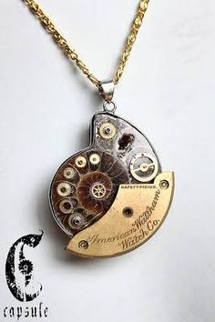 steam punk ammonite jewelry                                                                                                                                                                                 More