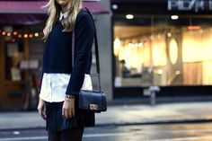 #chanel #boybag #chanelbag #winter #fall #outfit #aliceandolivia #intermix #streetstyle #accesories #details