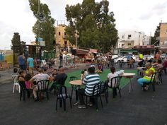 Thursday's concerts at the Talipot market, Haifa. As bad as it looks, the reality is even worse. The music perfectly fits surrounding filth and stench of rotten vegetables.
